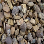 Phoenix Stone Company, Phoenix Stone, Walnut Pebbles, Walnut Stone, Pebbles, Walnut, Brown Stone, BRown Pebbles, 50 Lb bagged walnut pebbles, Bagged Walnut Pebbles08325,017727083254