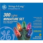 Santa's Best Craft, Santa's Best, GE, Multi Mini Light with Green Cord Set, Multi Light with Green Cord, Multi Light, 300 Multi Light Set, 300 Light, 300 Lite, Multi, Green Cord, Mini Light Set087449606055
