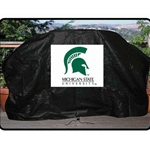 Seasonal Design, Seasonal Designs, Michigan State University Grill COver, MSU Grill COver, Spartan Grill Cover, Michigan State University Spartan Grill Cover, Grill Cover, Fitted Grill COver, Black Grill Cover, 59x42x19, Large Grill COver792723406213