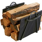 Panacea Products, Panacea, Log Tote, Firewood Log Tote, Log Tote Stand, Black Log Tote, Black Fireplace Log Tote with Steel Stand, Log Tote with Steel Stand, Log Stand093432152164