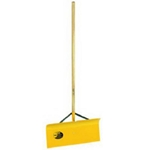"Yeoman, Yeoman Tools, 24"" Steel Braced Snow Shovel, Snow Pusher, Spring Braced Steel Shovel, 24"" Shovel Head, 48"" Wooden Handle, Yellow Snow Shovel, Yellow042185040402"