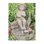 Beckett, Beckett Corporation, 7129210, FTN3087, Little Fisherman Garden Fountain, Little Fisherman Fountain, Foutain, Resin Fountain, Little Fisherman Boy, Resin Garden Fountain052309712924