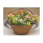 "Deer Park Ironworks, Deer Park Iron Works, 21"" Round Basket Planter, BA102, 21"" Planter, 21"" Round Basket with Coco Liner, Coco Liner, 21"" Basket Planter, Round Basket Planter, Round Basket Planter with COco LIner, Planter with Coco Liner702085400675"