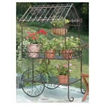 Deer Park Ironworks, Deer Park Iron WOrks, Deer Park, Flower Cart, TC104, Flower Plant Stand, Cart, 2 Wheel Cart, 2 Wheel FLower Cart702085400255