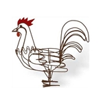 "Deer Park Ironworks, Deer Park Iron Works, Rooster Planter, AN104, 8"" Pot Holder, 8"" Pot, 8"" Planter, Rooster Planter, Metal Rooster Planter, Rooster, Planter702085400262"