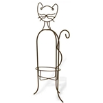"Deer Park Ironworks, Deer Park Iron Works, Cat Planter, AN112, 10"" Pot Holder, Planter Holder, PLanter Stand, Cat Planter Holder, Cat Pot HOlder702085400293"