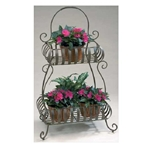 Deer Park Ironworks, Deer Park, Double Solera Flat Back Planter, PL217, Double Solera Plant Stand, Plant Stand, Planter702085400620