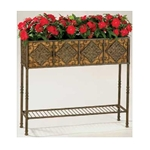 Deer Park Ironworks, Deer Park, Tall Diamond Planter Box, PL222, Diamond Planter Box with Coco Liner, Diamond Planter, Metal Planter Box, Planter Box with Coco Liner702085401405