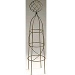 Deer Park Ironworks, Deer Park, Firecracker with Ball Topiary, TO101, Topiary, Firecracker Topiary, 4' Topiary, 4 Ft Topiary, 4' Firecracker Topiary, 4 Ft Firecracker Topiary, Obelisk, Plant Support702085400767,702065401627