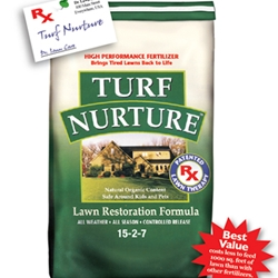 Turf Nurture, Lawn Restoration Fertilizer, T25, 25 Lb. Turf Nurture, 8000 square feet, 5000 square feet, T40, 40 lb. Turf Nurture, HHI Pelleting, Lawn Thatch remover, Natural lawn fertilizer, Organic lawn fertilizer, natural lawn disease prevention, Ringer Lawn Restore, lawn disease control, lawn fungus control, turf disease control, turf fungus control, 853056001053,853056001008,088685571268