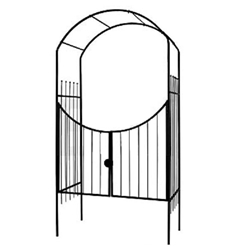 Gardman, R356, Savannah Arch and Gate, 8 Ft, Black, Metal, Arbor, Savannah, Arch, Gate745487003563
