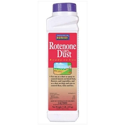 Bonide, Rotenone 1.00% Dust, Rotenone, 1 Lb, Insect Control, Rotenone 1% Dust, Fruit Trees, Flowers, Flea control, Tick Control037321007555