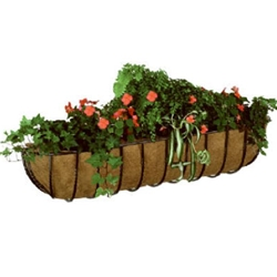 "Gardman, R967, Blacksmith Wall Trough, 30"", Black Smith, Window Box, Window, Wall, Trough, Planter, Box, Liner, Coco Liner, Cocoa Liner745487009671"