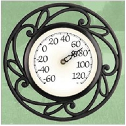 "Chaney 12"" indoor/outdoor iron thermometer, 02346, thermometer346, acu-rite, accurate, dependable, large easy to read numbers, wrought iron weave, indoor/outdoor thermometer, indoor thermometer, outdoor thermometer, indoor iron thermometer, indoor/outdoor iron thermometer, outdoor iron thermometer, kitchen thermometer, greenhouse thermometer, patio thermometer072397023467"