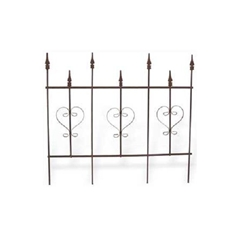 Deer Park Ironworks, Deer Park Iron Works, Deer Park, 7 Finial Heart Fence, FE101, Fence, Fencing, 7 Finial, Heart Fence, Finial Fence, Finial, Heart, Steel Fence, Border, Border Fencing702085400897