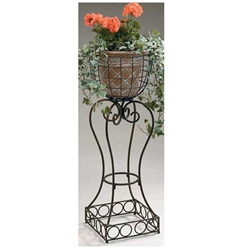 Deer Park Ironworks, Deer Park Iron Works, Deer Park, Square Base Plant Stand, PL119, Plant Stand, Square Base Stand, Planter, Planter Stand, Square Plant Stand702085401221