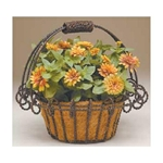 "Deer Park Ironworks, Deer Park Iron Works, 17"" Basket Planter, O Twist Basket Planter, BA112, Basket Planter with Coco LIner, 17"" Planter, 17"" O Twist Basket Planter, 17"" O Twist Basket Planter with Coco Liner, 17""702085400156,702065400156,702065400152"