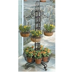 Deer Park Ironworks, Deer Park Iron Works, Deer Park, Floor Plant Stand with Hanging Baskets, PL126, Hanging Baskets with Coco Liner, Hanging Baskets, Floor Planter, Floor Plant Stand702065400941,702085400941