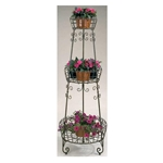 Deer Park Ironworks, Deer Park Iron Works, Deer Park, 3 Tier French Planter, PL210, 3 Tier Plant Stand, 3 Tier Planter, French Planter, French Plant Stand, 3 Tier Stand702085401696