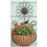 Deer Park Ironworks, Deer Park Iron Works, Deer Park, Daisy Wall Basket, Daisy Planter, WB135, Daisy, Wall Basket, Daisy Wall Basket with Coco LIner, Wall Basket with Coco Liner702085400194